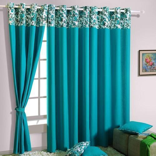 Stirling Fabric Sky Blue Window Curtain Size 74 Feet