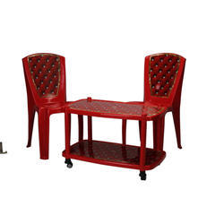 Two Seater Red Table Chair Set