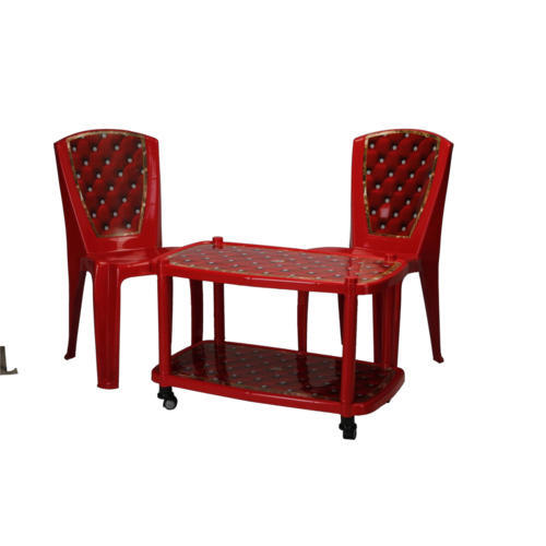 Two Seater Red Table Chair Set Rs 2200 Set Kuvera Sales