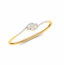 Ladies Designer Diamond Bracelet, Packaging Type: Box