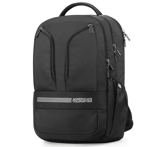 03e388fad9 Fabric Black American Tourister Logix 02 2017 Backpack