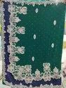 Pure Chiffon Handwork Sarees with Blouse Piece