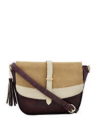 Dark Maroon Leather Sling Bag