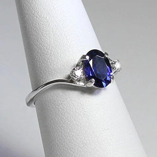 e189f1d587e56 Certified 2.5 Carat Blue Sapphire Ring With Diamonds ,