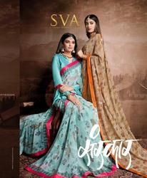 Sva Sanskar Series 1301-1310 Stylish Party Wear Georgette Saree