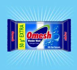 Blue Premium Omesh Detergent Cake, Packaging Type: Box