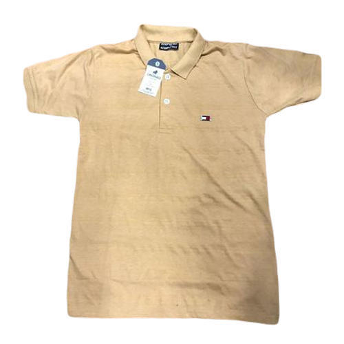 21015128d47 Men  s Cotton Cream Color Plain T-Shirt