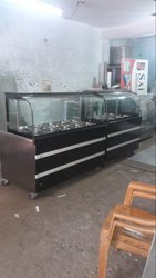 Stainless Steel Bain Marie Counter