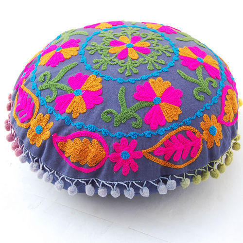 16 Round Hand Embroidery Floor Sofa Cushion Cases