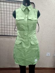 Ladies Poly Twill Dress With Pocket