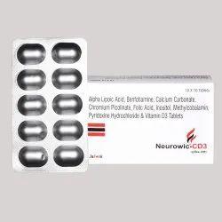 ALA, Benfotiamine, Cal Carbonate, Chromium Picolinate, Inositol, Methyl, Pyridoxine, Vit D3 Tab