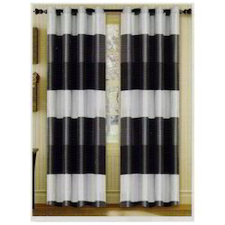 Abhina Metallic Grey Curtain