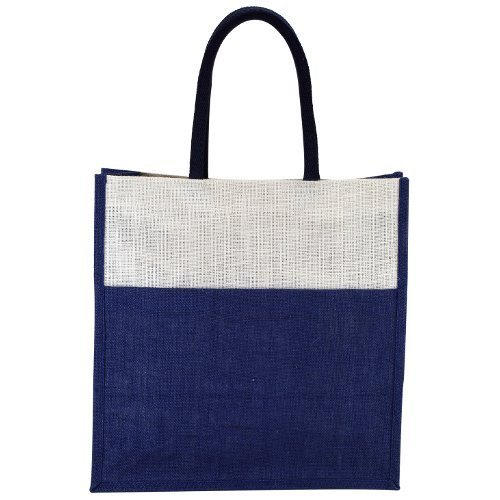 4e0d3b0f1 Earthyy bags Blue, White Designer Jute Shopping Bags, For Shopping/Gift /Beach