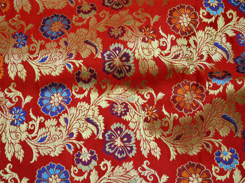 red sewing indian fabric banaras silk beige silk brocade rs 1600 rh indiamart com silk brocade jacket silk brocade dress