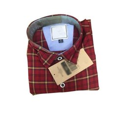 Formal Wear Checks Mens Cotton Formal Shirts, Size: S-xl, Packaging Type: Packet
