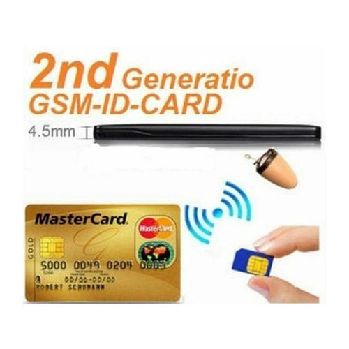 209483325df Spy GSM ATM Card with Nano Earpiece Dual Way Talking Invisible Earpiece  with GSM ID Card