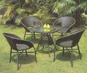 Rattan Chair Table Set