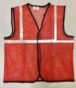 Reflective Vizwear Vests / Jackets 1 Red Front Opening In Mesh Fabric