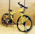 Audi Yellow Foldable Cycle