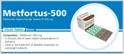 Metformin Hydrochloride Tablets IP 500mg