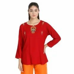 Stylish Front Embroidered Top