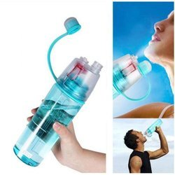 2 In 1 Drink & Mist Water Bottle Spray Water Bottle, 600 ML (Assorted Color)