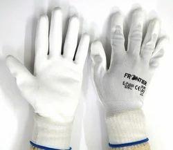 PU Palm Coated Gloves White Midas Make