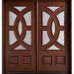 Wood Arsh Traders Laminated Wooden Double Door