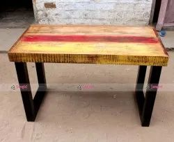 Jangid Art And Crafts Indian Wooden Restaurant Table, Size: 130x60x75 Cms