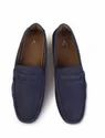 Men Casual Blue Leather Driving Shoes