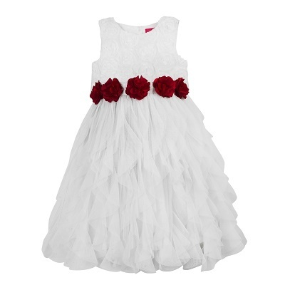 461d95346 Girls Cotton White Summer Dress