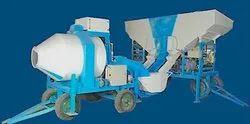 Reverse Drum Concrete Mixer with Storage Bin