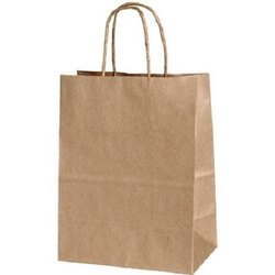 Recycled Paper Bags With Handle 9x3x13 Inches - 140 Gsm