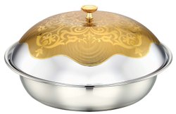 Stainless Steel Elegant Gold Serving Dishes