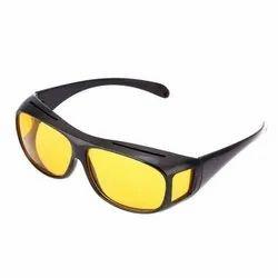 Square Yellow Night HD Vision Driving Anti Glare Eyeglasses