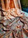 Madhubani Printed Tussar Silk Sarees