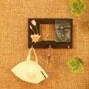 Wooden Mask & Key Holder For Home Decor