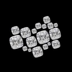 Loose Cushion Cut White Colorless Moissanite Stone