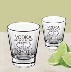 Personalized Round Clear Shot Glass
