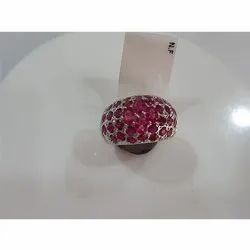 Ruby Sapphire Silver Ring