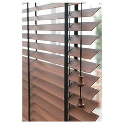 Wooden Brown Window Vertical Blind