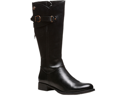 Black Smooth Leather Hush Puppies Boots For Women F70469200000ee ... 3cda525e3