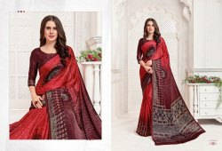 Printed Crepe sarees from catalog Queen