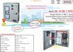 LT MK1 Single Phase Submersible Pump Control Panel - Excel ... Ganner Single Phase Contactor Wiring Diagram on