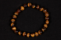 Tiger Eye Smooth Round Beaded Bracelet