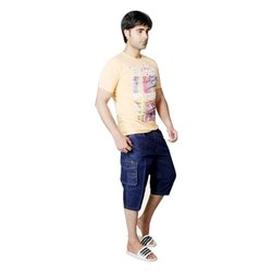 Bugal Boy Plain Mens Denim Capri, Hand Wash, Size: Available In XL To 8XL