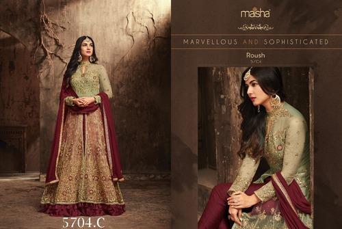 Hand Embroidery Heavy Net With Embroidery Work Salwar Suit