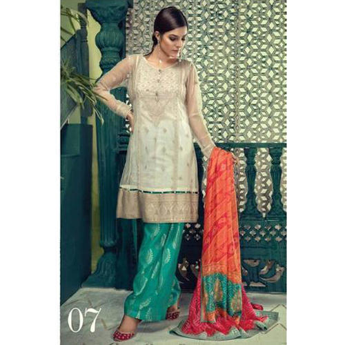 0941591d42 Medium And Large Chiffon Pakistani Lawn Replica Suit, Rs 600 /piece ...