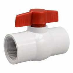 Ziptron White Plastic Ball Valves, Packaging Type: Box, Size: 1-3 Inch