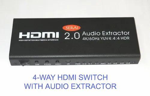 Serai 4 Port Hdmi Switcher With Audio Extractor